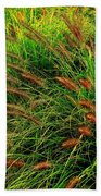 Grasses In The Verticle Beach Towel