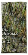 Grassy Beach Post Morning Psalm 118 Beach Towel