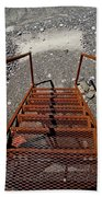 Gravel Pit Grinder Rusty Staircase Beach Towel