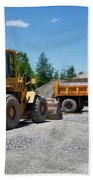 Gravel Pit Loader And Dump Truck 03 Beach Towel