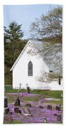 Graveyard Phlox Country Church Beach Towel