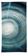 Gray-blue Star. Sparkling Light Beach Towel
