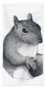 Eastern Gray Squirrel Beach Towel