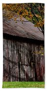Gray Weathered Barns Number Three Beach Towel