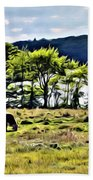 Grazing With A View Beach Towel
