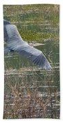 Great Blue Heron 2 Beach Towel