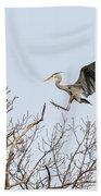 Great Blue Heron 2014-4 Beach Towel