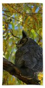 Great Horned Owl 2 Beach Towel