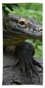 Great Look At A Komodo Dragon With Long Claws Beach Towel