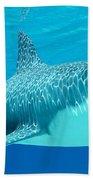 Great White Shark Undersea Beach Towel