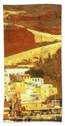 Greek Fishing Town Beach Towel