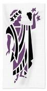 Greek Man In Purple Beach Towel