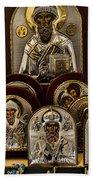 Greek Orthodox Church Icons Beach Towel