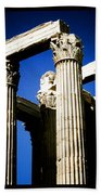 Greek Pillars Beach Towel