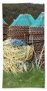 Green - Crab Pots Beach Towel