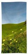 Green 4 Flowers Beach Sheet