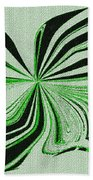 Green And Black Embroidered Butterfly Abstract Beach Towel