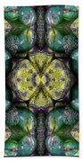 Green And Blue Stones 3 Beach Towel