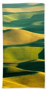 Green And Gold Acres Beach Towel