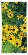 Green And Yellow Burst Beach Towel