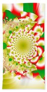 Green And Yellow Collide Beach Towel
