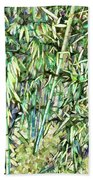 Green Bamboo Tree Beach Towel