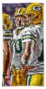 Green Bay Packers Team Art 2 Beach Towel