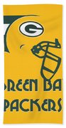 Green Bay Packers Team Vintage Art Beach Sheet