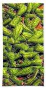 Green Bean Tips Beach Towel