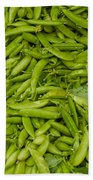 Green Beans Beach Towel