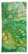 Green Cells Beach Towel