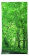 Green Creeper Beach Towel