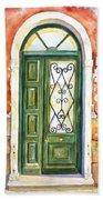Green Door In Venice Italy Beach Towel