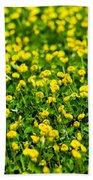 Green Field Of Yellow Flowers 2 1 Beach Towel