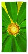 Green Flower Beach Towel