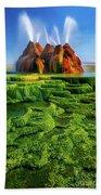 Green Fly Geyser Beach Towel