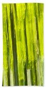 Green Forest Abstract Beach Sheet