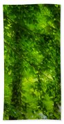 Green Forest Trees 1 Beach Towel