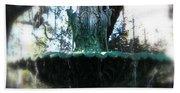 Green Fountain Beach Towel