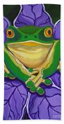 Green Frog Beach Towel