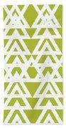 Green Graphic Diamond Pattern Beach Towel