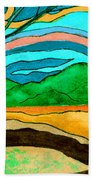 Green Hill Country Beach Towel