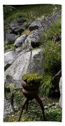 Green In Rock Garden Beach Towel