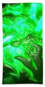 Green Lantern Beach Towel