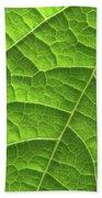 Green Leaf Structure Beach Towel