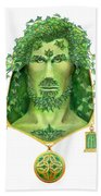 Ivy Green Man Beach Towel