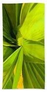 Green Mosaic Beach Towel