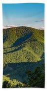 Green Mountainside Beach Towel