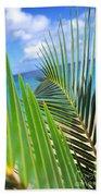 Green Palm Leaves Beach Towel