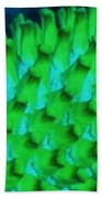Green Pattern Abstract Beach Towel